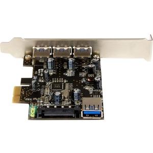 StarTech.com Tarjeta PCI Express con 4 Puertos USB 3.0 - 4 Total USB Port(s) - 4 USB 3.0 Port(s) - PC, Linux