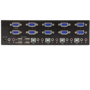 StarTech.com 4-port KVM Switch with Dual VGA and 2-port USB Hub - USB 2.0 - 4 Computer(s) - 1 Local User(s) - 1920 x 1200