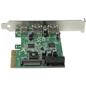 StarTech.com Tarjeta Combo PCI Express de 5 Puertos USB 3.1 (10Gbps) - 1x USB-C, 2x USB-A - 2x IDC (5Gbps) - 3 Total USB P