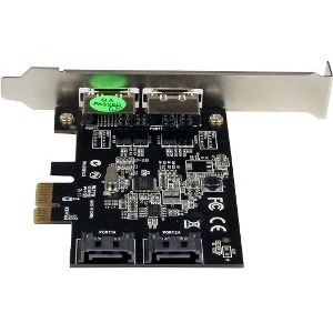 StarTech.com SATA Controller - Serial ATA/600 - PCI Express x1 - Plug-in Card - 4 Total SATA Port(s) - 2 SATA Port(s) Inte