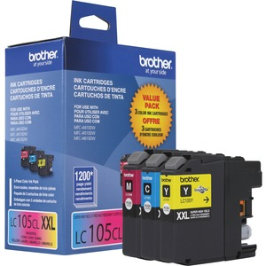 Brother Innobella LC1053PKS Original Ink Cartridge - Inkjet - High Yield - 1200 Pages Cyan, 1200 Pages Magenta, 1200 Pages Yellow - Assorted, Magenta, Yellow - 3 / Pack