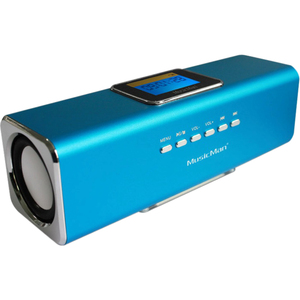 MusicMan Portable Speaker System - 6 W RMS - Blue - 150 Hz to 18 kHz - Battery Rechargeable - USB