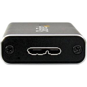 StarTech.com M.2 SSD Aluminum Enclosure to USB 3.0 (5Gbps) with UASP - M.2 NGFF SATA with B Key & B+M Key - External M.2 P
