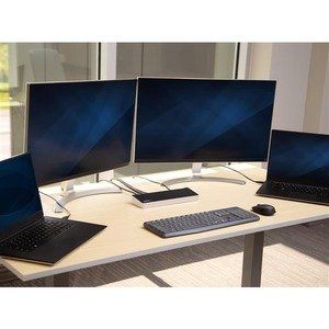 StarTech.com Dual Monitor KVM Docking Station - for Two Laptops - 4K - File Transfer Compatibility - Universal Laptop Dock