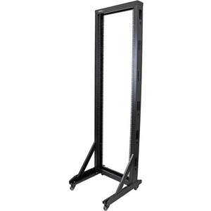StarTech.com 2-Post Server Rack with Sturdy Steel Construction and Casters - 42U - 300.22 kg Maximum Weight Capacity - 300
