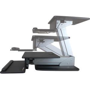 """Elevador de sobremesa multiuso StarTech.com ARMSTS - 30,5 cm (12"""") a 76,2 cm (30"""") para pantalla plana - 13 kg Capacidad d"""
