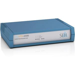 SEH myUTN-2500 Device Server - Twisted Pair - 1 x Network (RJ-45) - 3 x USB - 10/100/1000Base-T - Gigabit Ethernet