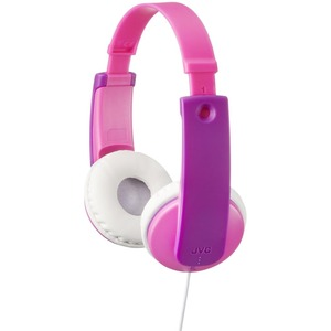 JVC Kids HA-KD7P Headphone - Stereo - Pink - Wired - Over-the-head - Binaural - Circumaural - 2.62 ft Cable