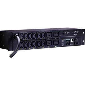 CyberPower PDU81008 16-Outlet PDU - NEMA L6-30P - 12 x IEC 60320 C13, 4 x IEC 60320 C19 - 230 V AC - Network (RJ-45) - 2U