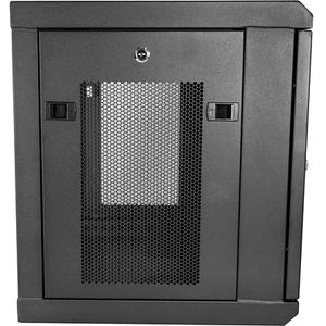 "StarTech.com 2 Post 9U 19"" Wall Mount Network Cabinet Adjustable 6-15""- Locking Vented IT Equipment/Switch Rack Enclosure"