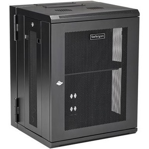 StarTech.com Wall Mount Server Rack Cabinet - 15U Rack - 50cm Deep - Hinged Enclosure - Wall Mount Rack - Server Cabinet -