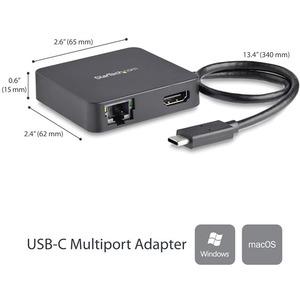 USB C Multiport Adapter - USB-C to 4K HDMI / USB 3.0 / Gigabit Ethernet - Powered USB Hub - USB-C to USB Adapter (DKT30CHD)