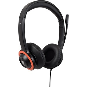 V7 HA530E Wired Over-the-head Stereo Headset - Black - Binaural - Supra-aural - 32 Ohm - 200 cm Cable - Noise Cancelling M
