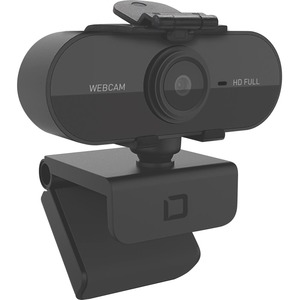 Dicota Webcam - Black - USB 2.0 - 1920 x 1080 Video - Auto-focus - Microphone - Notebook, Computer