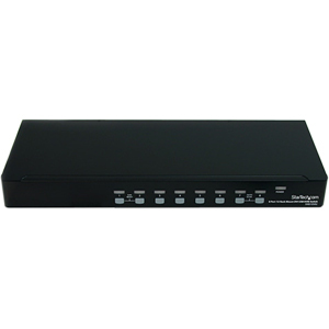 StarTech.com 8 Port 1U Rackmount DVI USB KVM Switch - Control up to 8 USB computers with DVI or HDMI video, from one keybo