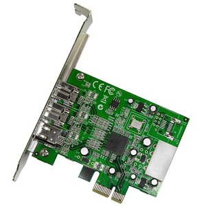 StarTech.com 3 Port 2b 1a 1394 PCI Express FireWire Card Adapter - 1394 FW PCIe FireWire 800 / 400 Card - 3 Total Firewire