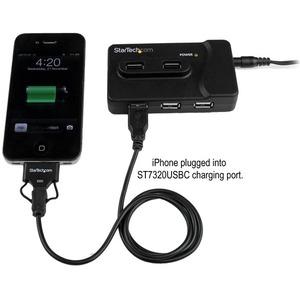 StarTech.com 6 Port USB 3.0 & USB 2.0 Hub with 2A Charging Port - 2x USB 3.0 Hub Ports & 4x USB 2.0 - Combo USB Hub with 2
