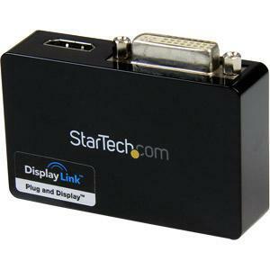 StarTech.com USB 3.0 to HDMI® and DVI Dual Monitor External Video Card Adapter - 1GB DDR2 SDRAM - USB 3.0