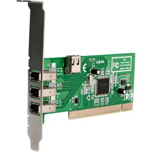 StarTech.com 4 Port IEEE-1394 FireWire PCI Card - 4 Total Firewire Port(s) - 4 Firewire 400 Port(s) - PC, Mac