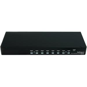 StarTech.com 8 Port 1U Rackmount DVI USB KVM Switch - 8 Computer(s) - WUXGA - 1920 x 1200 - 10 x USB - 9 x DVI - 1U - Rack