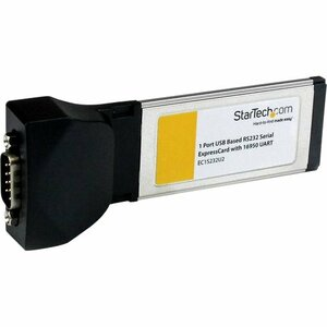 StarTech.com 1 Port ExpressCard to RS232 DB9 Serial Adapter Card w/ 16950 - USB Based - ExpressCard/34 - PC, Mac - 1 x Num