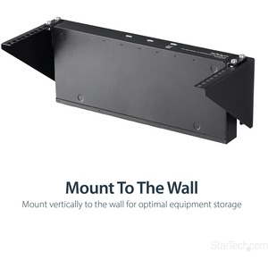 StarTech.com 4U Wall Mount Patch Panel Bracket - 19 inch Steel Vertical Mounting Bracket for Network and Data Equipment (R