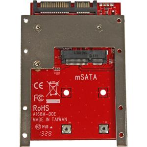 "Adaptador para Receptáculo de Unidad StarTech.com para 2.5"" SATA/600 - Serie ATA/600 Interfaz de host Interno - Rojo - Con"