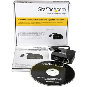 StarTech.com Mini Replicador de Puertos Universal USB 3.0 con VGA Ethernet Gigabit para Portátil - Docking Station - 1 x p