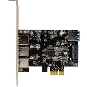 StarTech.com 4 Port PCI Express USB 3.0 Card - 3 External and 1 Internal - 4 Total USB Port(s) - 4 USB 3.0 Port(s) - PC, L
