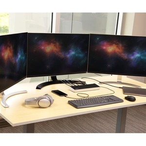 StarTech.com Docking Station para Ordenadores Portátiles USB-C - Replicador de Puertos USB Tipo C para 3 Monitores 4K- con