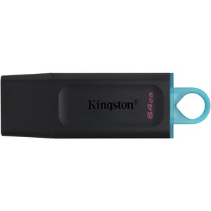 Unidad flash Kingston DataTraveler Exodia - 64 GB - USB 3.2 (Gen 1) - Negro, Verde azulado