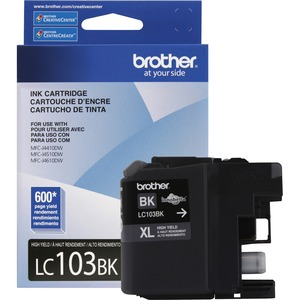 Brother LC103 Black Ink Cartridge, High Yield (LC103BKS)