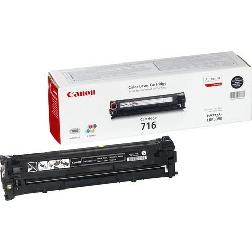 Cartucho de tóner Canon 716BK - Negro Original - Láser - 2300 Páginas - 1 Paquete(s)
