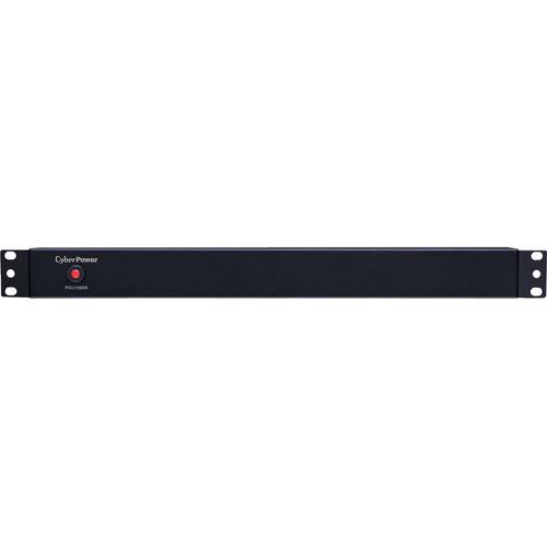 CyberPower PDU15B8R 8-Outlets PDU - Basic - NEMA 5-15P - 8 x NEMA 5-15R - 120 V AC - 1U - Rack-mountable