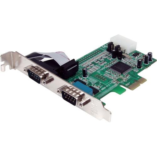 StarTech.com Scheda seriale PCI Express nativa a 2 porte RS-232 con 16550 UART - PCI Express - PC, Mac, Linux - 2 x Numero