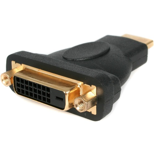 StarTech.com HDMI to DVI-D Video Cable Adapter - 1x HDMI (M), 1x DVI-D (F), Black - Gold-Plated Connectors - 1 x HDMI Male