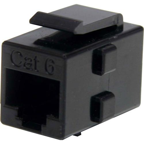 StarTech.com Caja de Empalme Acoplador Keystone Cable Cat5 Ethernet UTP - 2x Hembra RJ45 - Negro - 1 x RJ-45 Hembra Networ