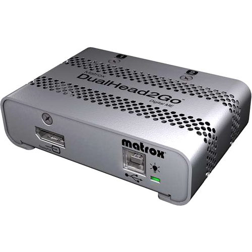 Matrox DualHead2Go Multiview Device - External - Functions: MultiView - DisplayPort - 3840 x 1200DVI - USB