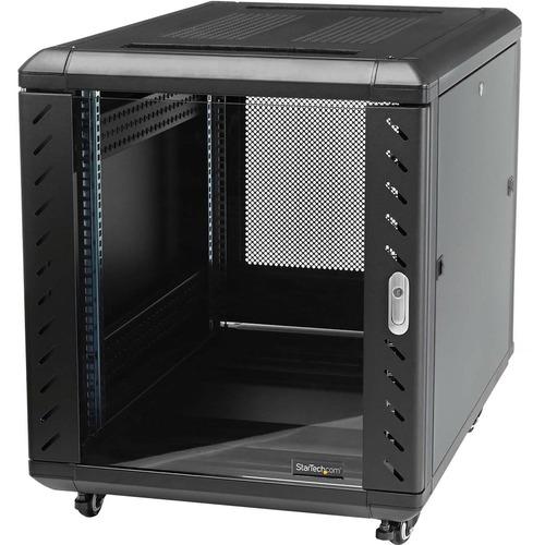 StarTech.com 12U Floor Standing Rack Cabinet for Server, A/V Equipment, KVM Switch, Patch Panel, LAN Switch - 482.60 mm Ra