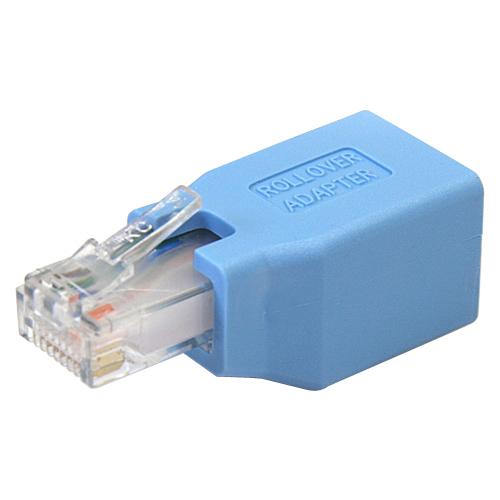 StarTech.com ROLLOVER Network Adapter - 1 x RJ-45 Female Network - 1 x RJ-45 Male Network - Blue
