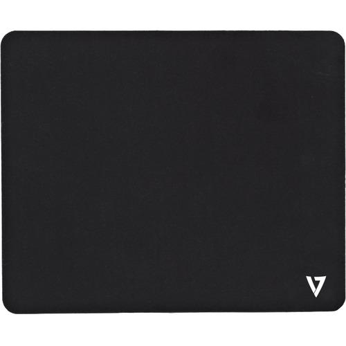 V7 Mouse Pad - 200 mm x 230 mm Dimension - Black - Jersey, Rubber Back