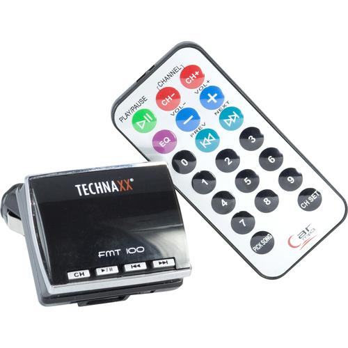 Technaxx FMT 100 FM Transmitter - LED Display - USB - Cigarette Lighter Plug