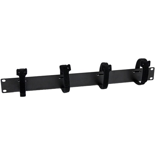 StarTech.com Organizador de Cableado Horizontal 1U para Racks con 4 tiras de cierre autoadherente para Organizar Cables -