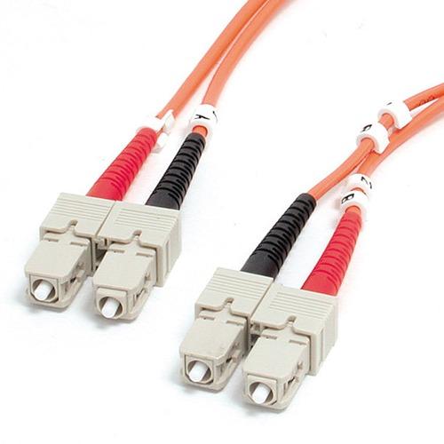 StarTech.com 1m Fiber Optic Cable - Multimode Duplex 62.5/125 - LSZH - SC/SC - OM1 - SC to SC Fiber Patch Cable - First En