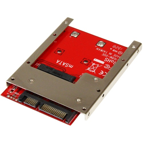 StarTech.com mSATA SSD to 2.5in SATA Adapter Converter - mSATA to SATA Adapter for 2.5in bay with Open Frame Bracket and 7