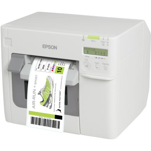 Epson TM-C3500 Desktop Inkjet Printer - Colour - Label Print - Ethernet - USB - With Cutter - White - LCD Yes - 104 mm (4.