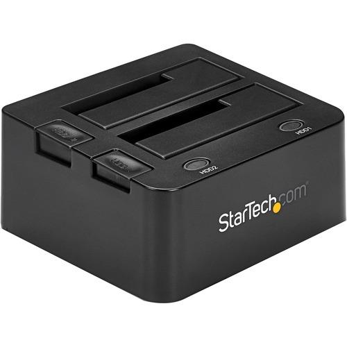 StarTech.com Docking Station USB 3.0 con UASP de 2 Bahías para Disco Duro o SSD SATA de 2,5 o 3,5 Pulgadas - 2 x HDD admit