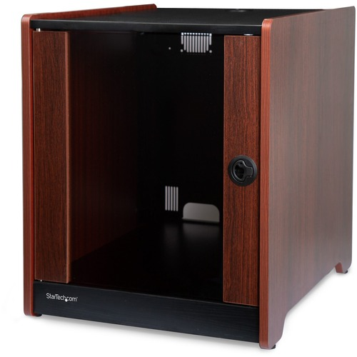 StarTech.com 12U Rack Enclosure Server Cabinet - 20.6 in. Deep - Wood Finish - Flat Pack - 136.40 kg Maximum Weight Capacity