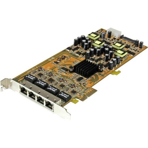 StarTech.com 4 Port Gigabit Power over Ethernet PCIe Network Card - PSE / PoE PCI Express NIC - Add 4 Gigabit Power over E