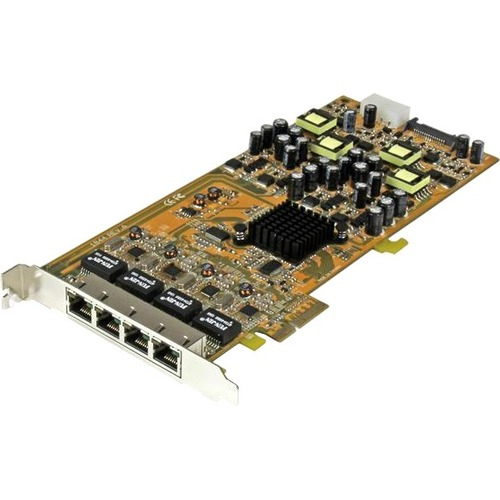 StarTech.com 4 Port Gigabit Power over Ethernet PCIe Network Card - PSE / PoE PCI Express NIC - Quad Port NIC - PoE Card -